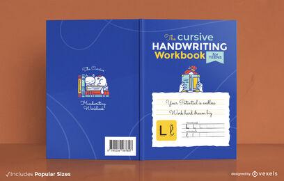 Cursive handwriting workbook cover design