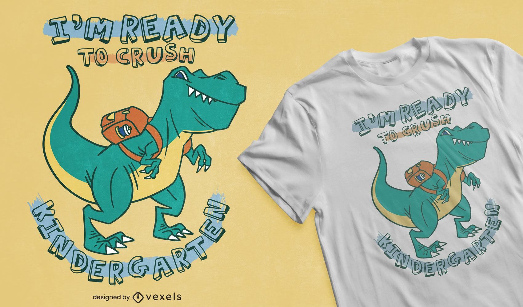 Design engraçado de camisetas do jardim de infância