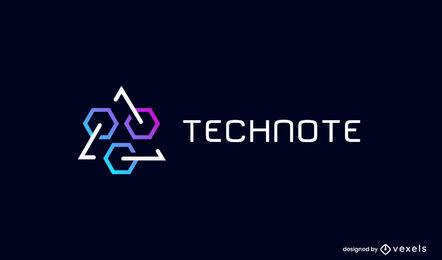 Geometrical shapes logo business template