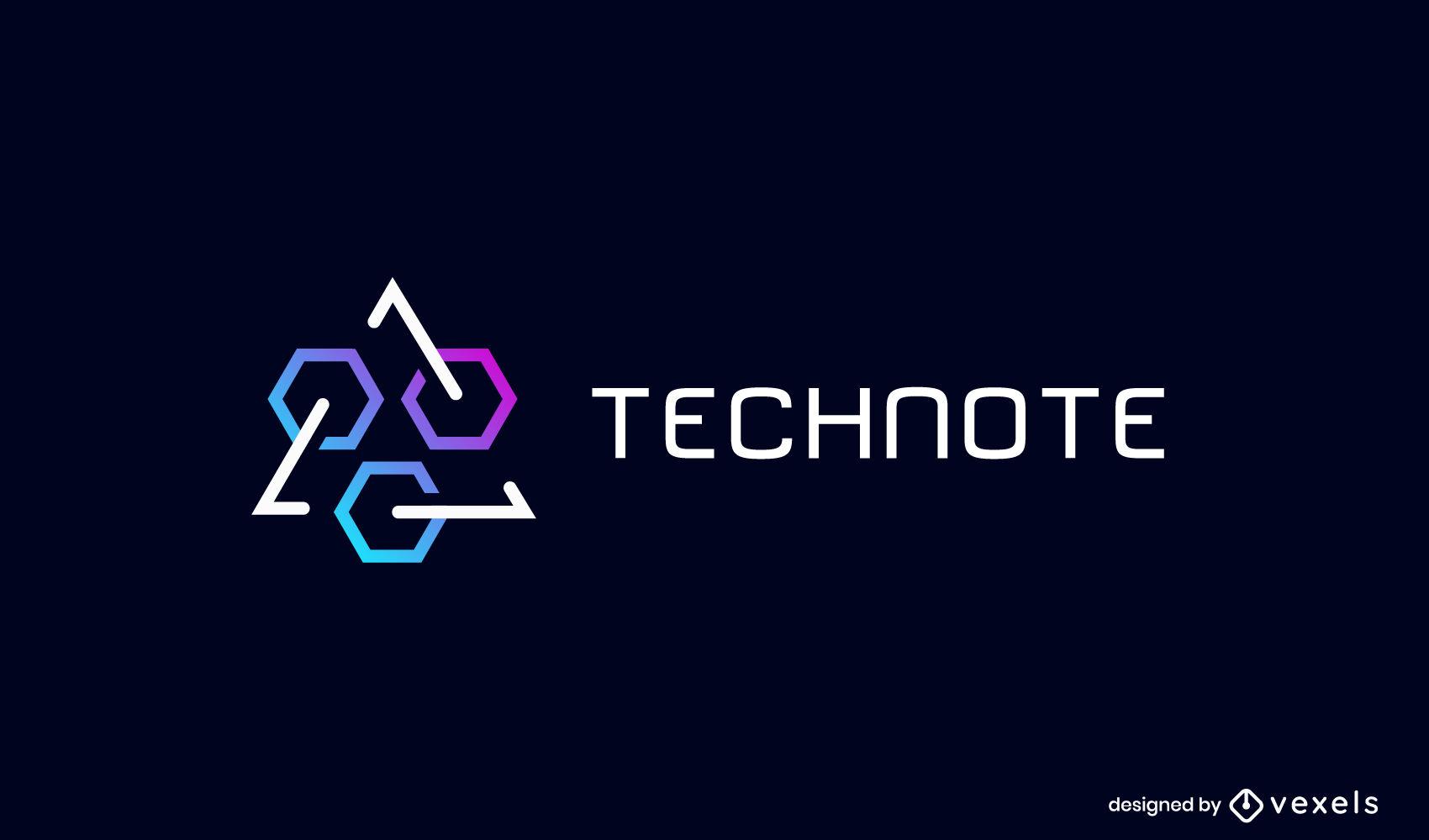 Logo-Geschäftsschablone mit geometrischen Formen
