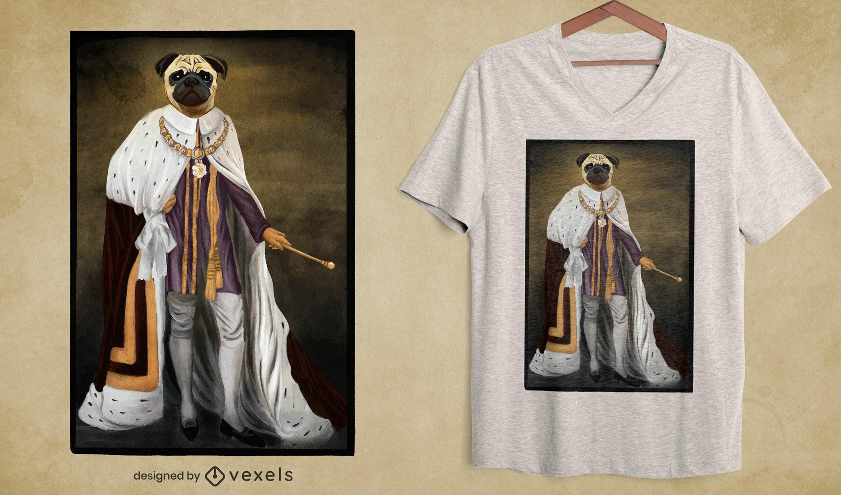 Royalty Mops Hund PSD T-Shirt Design