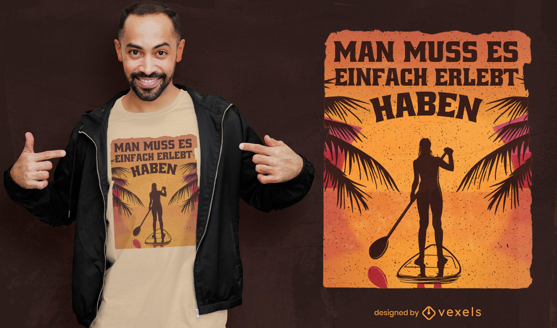 Design de t-shirt de aventura descontraída