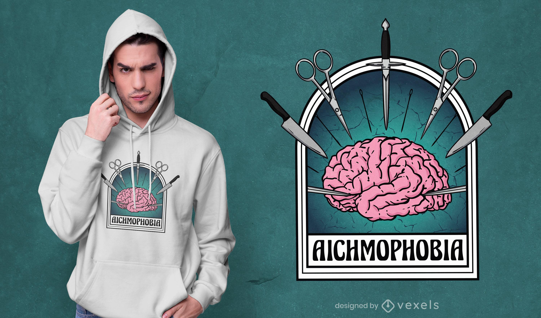 Sharp brain horror t-shirt design