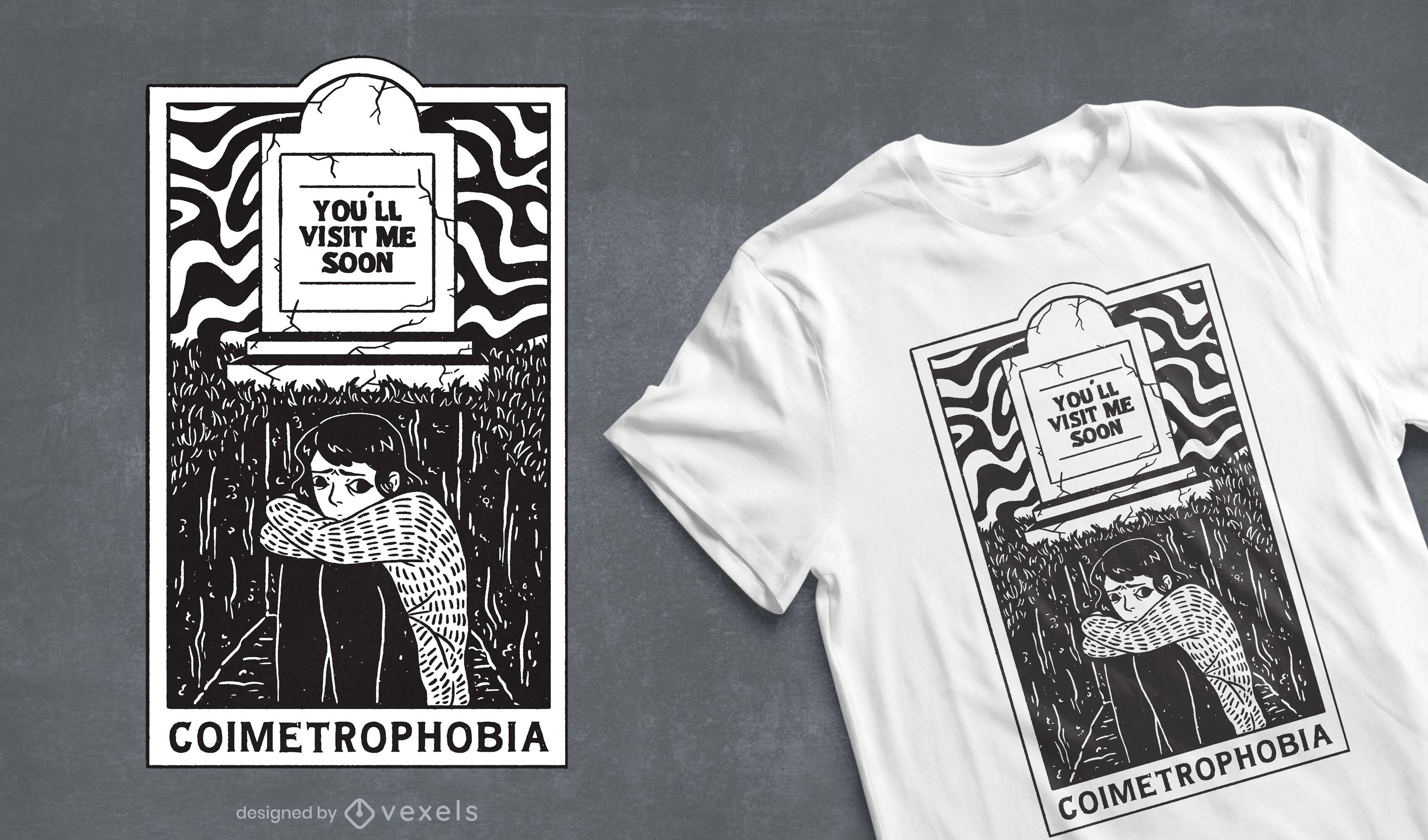 Fear of cemeteries t-shirt design
