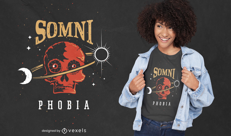 Somniphobia creepy t-shirt design