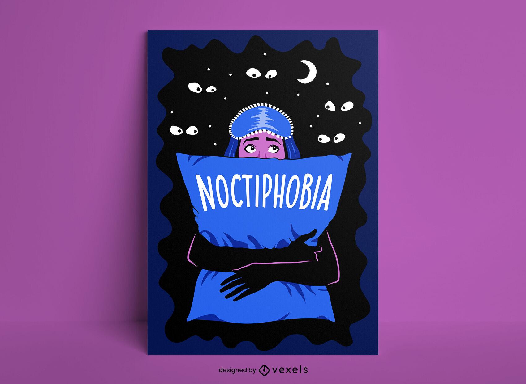 Chica temerosa de plantilla de póster de monstruos