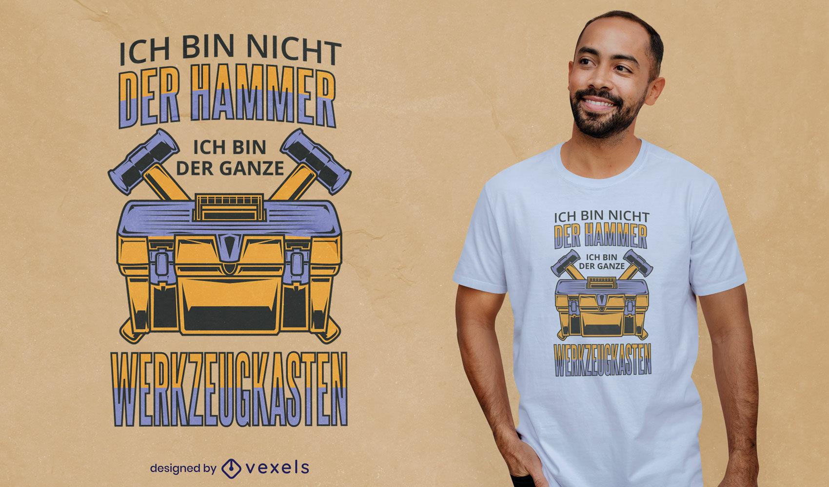Design alemão de t-shirt com ferramenta de martelo
