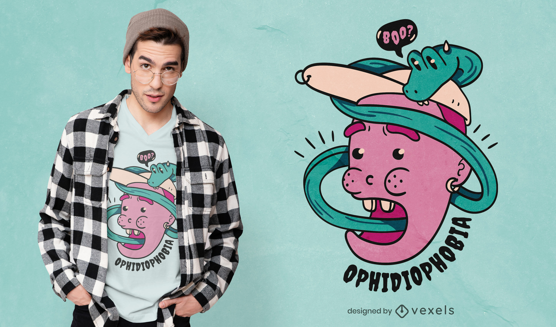 Rad Ophidiophobia t-shirt design
