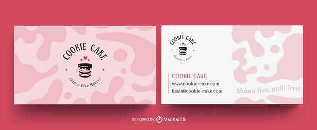 Sweet food cake business card design