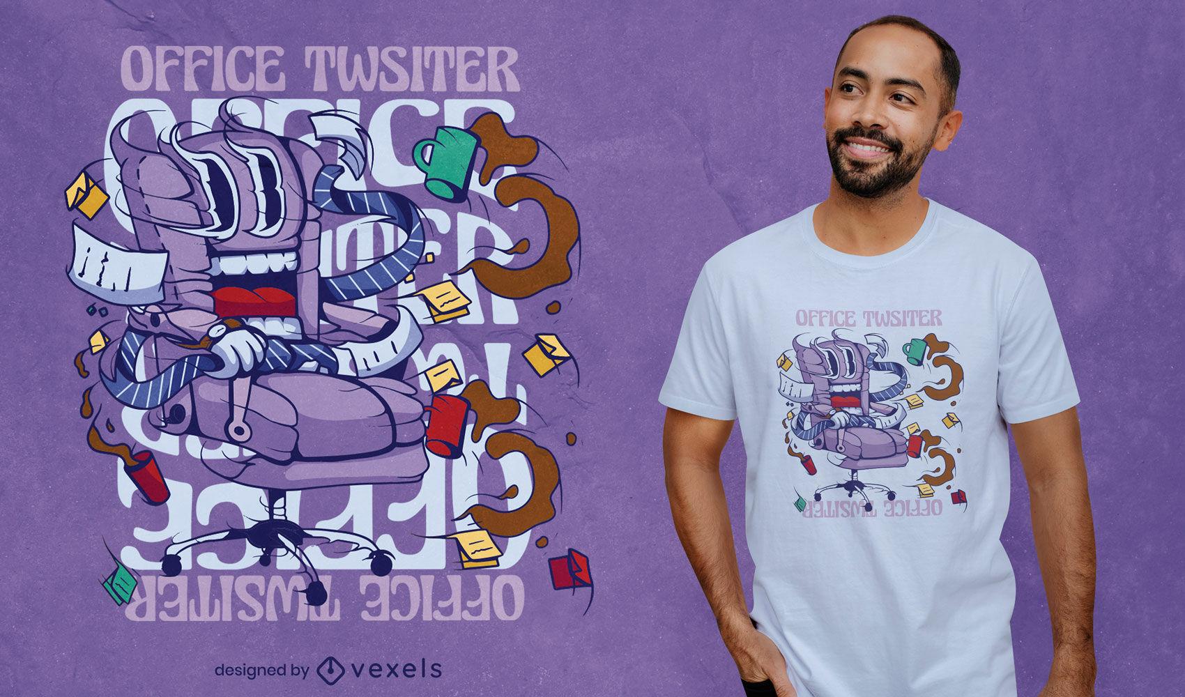 Spooky Office twister t-shirt design