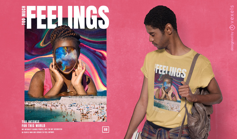 Intense feelings psd t-shirt design