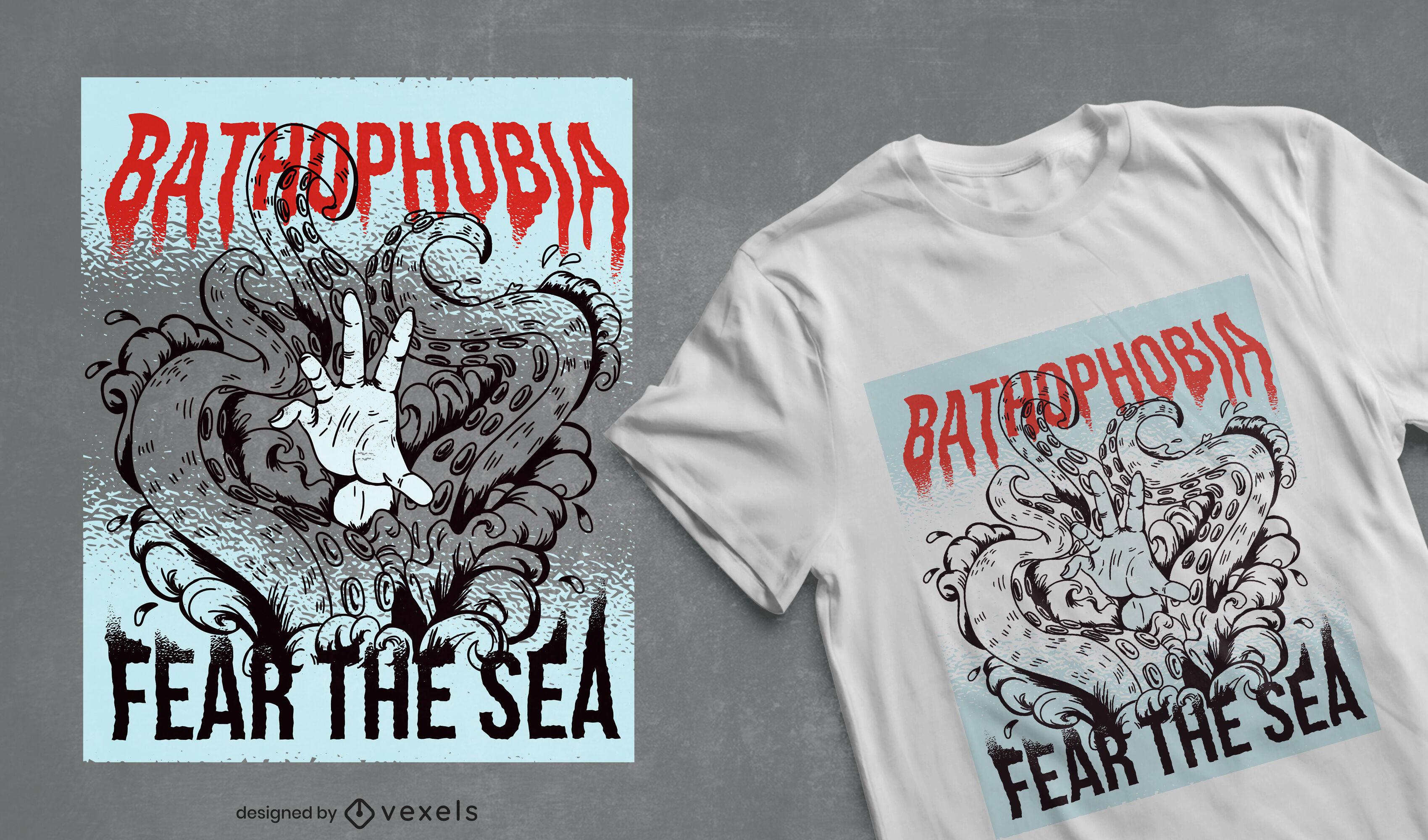Fear the sea t-shirt design
