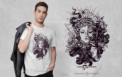 Diseño de camiseta Lady Darkness