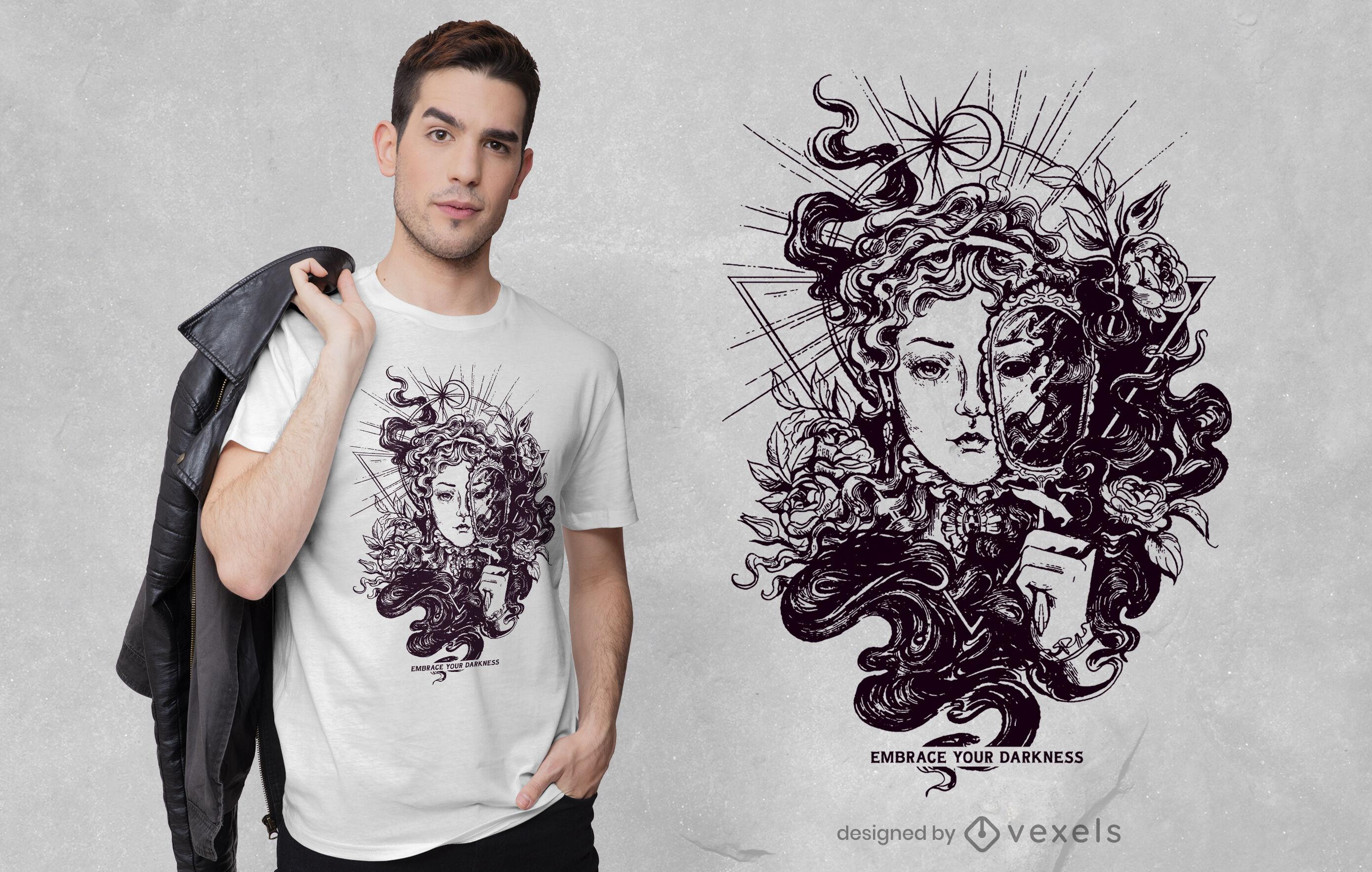 Lady Dunkelheit T-Shirt Design