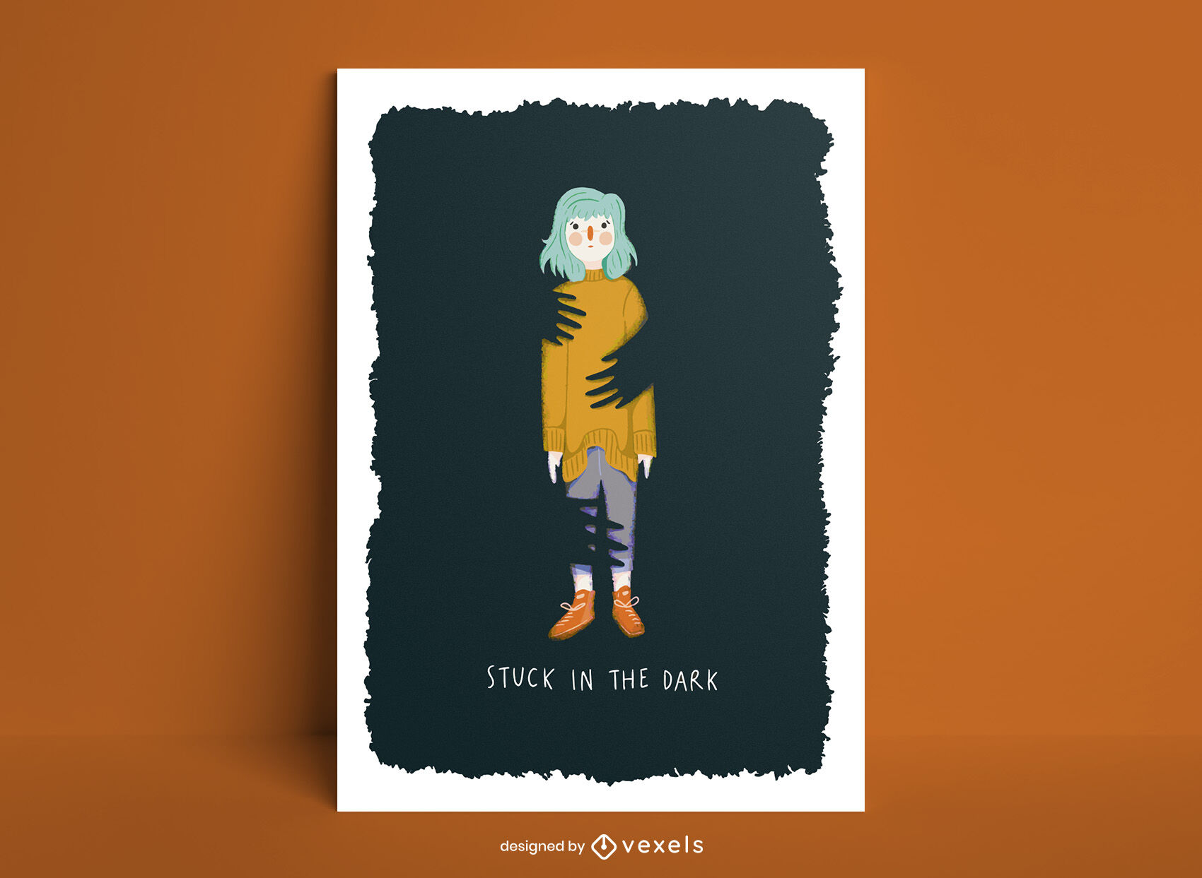 Plantilla de póster de miedo a la oscuridad