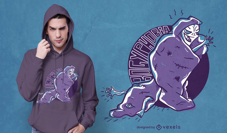 Creepy Bogyphobia t-shirt design