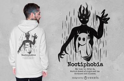 Design de camiseta assustadora da Noctiphobia