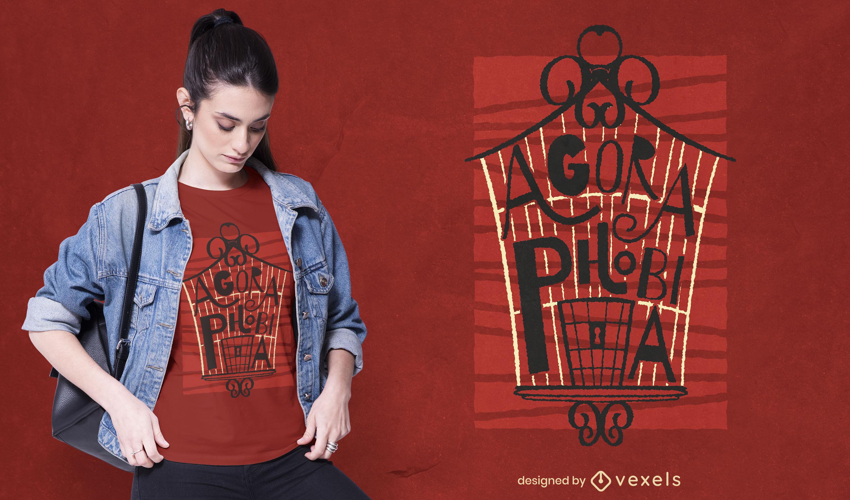 Cool agoraphobia t-shirt design