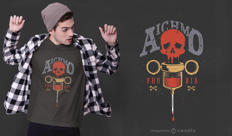 Scary aichmophobia t-shirt design