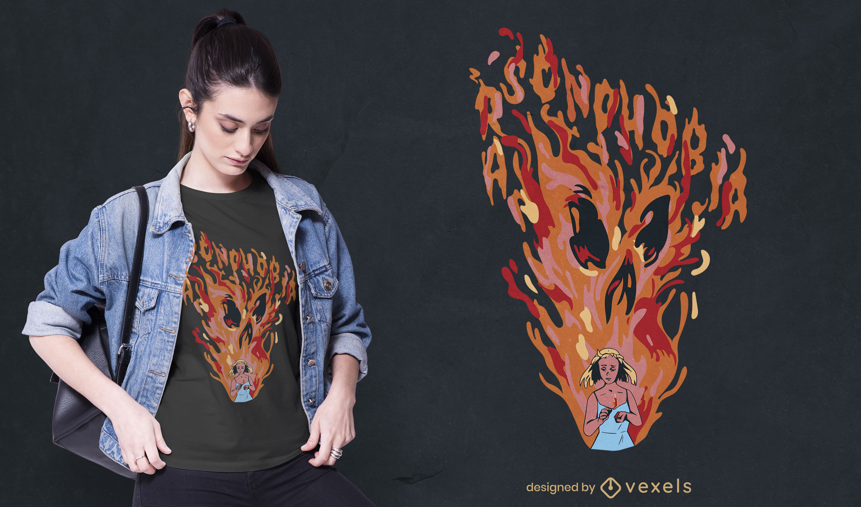 Cool Arsonphobia t-shirt design