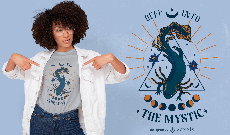 Mystic axolotl t-shirt design