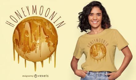 Moon of honey t-shirt design