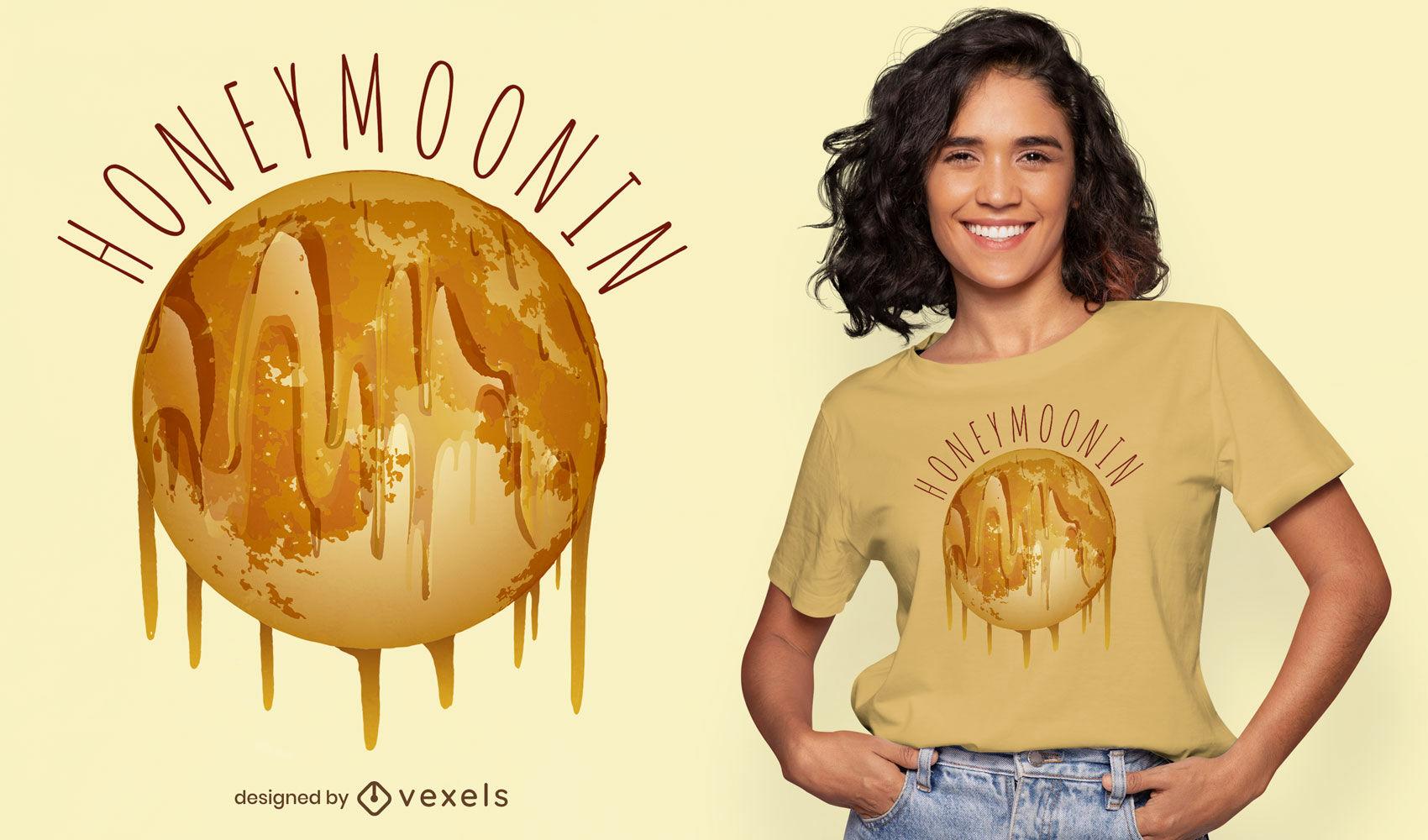 Dise?o de camiseta de luna de miel.