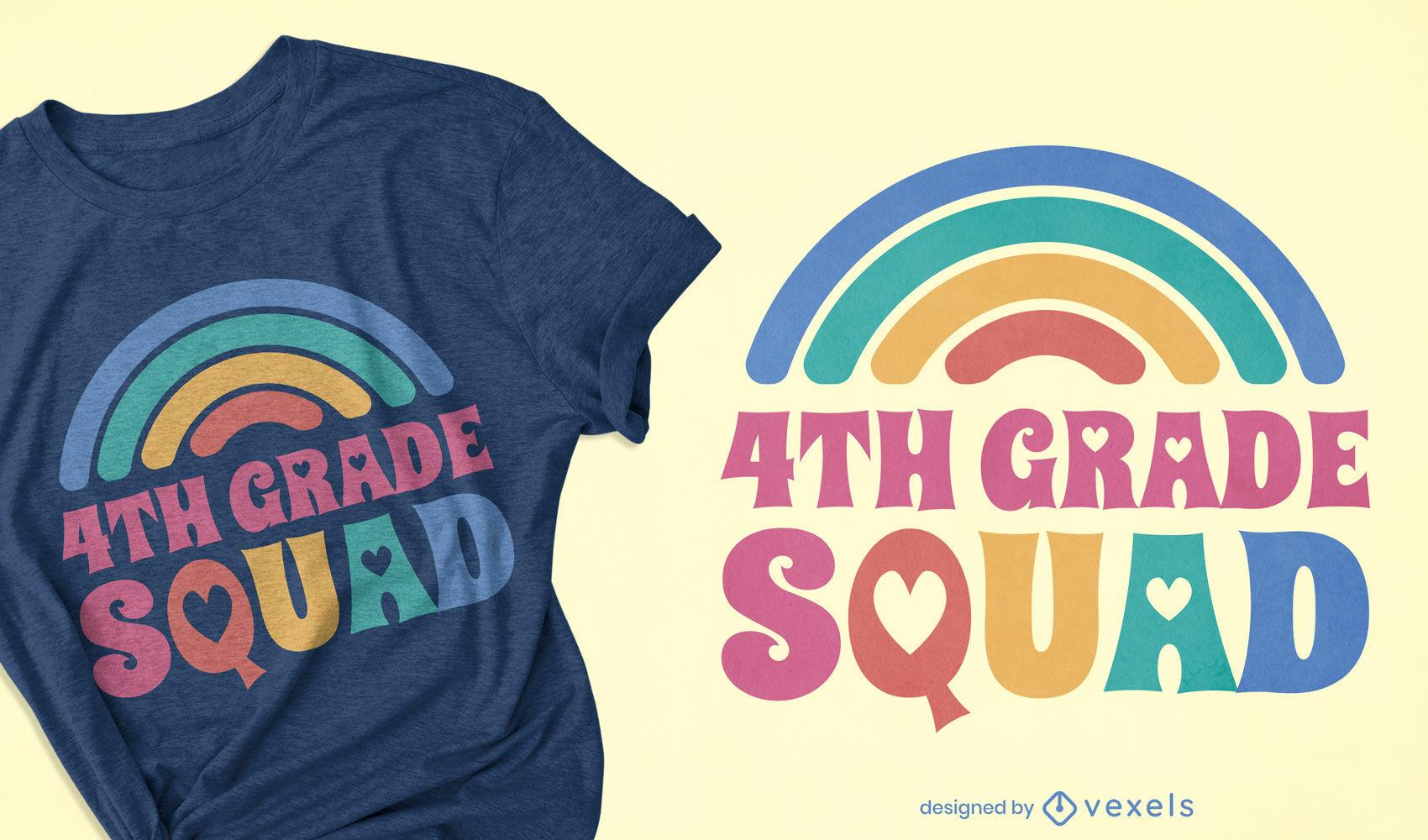 Design de camiseta para esquadrão de 4ª série