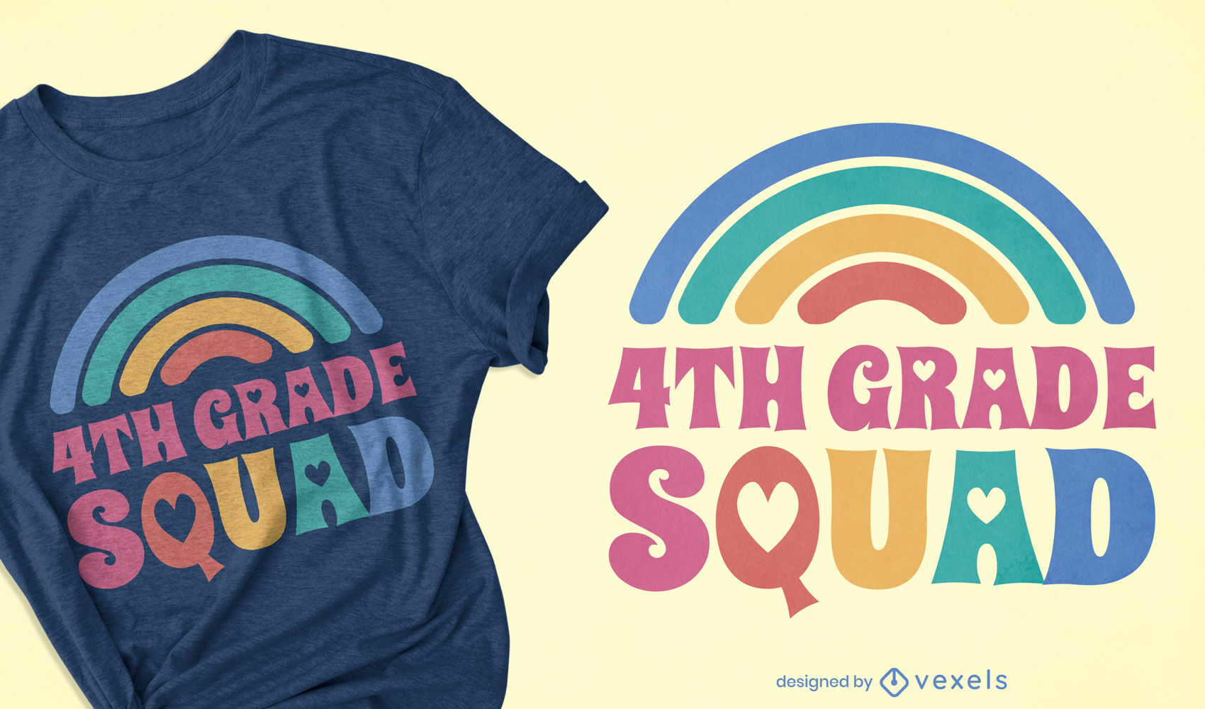 Diseño de camiseta de escuadrón de cuarto grado