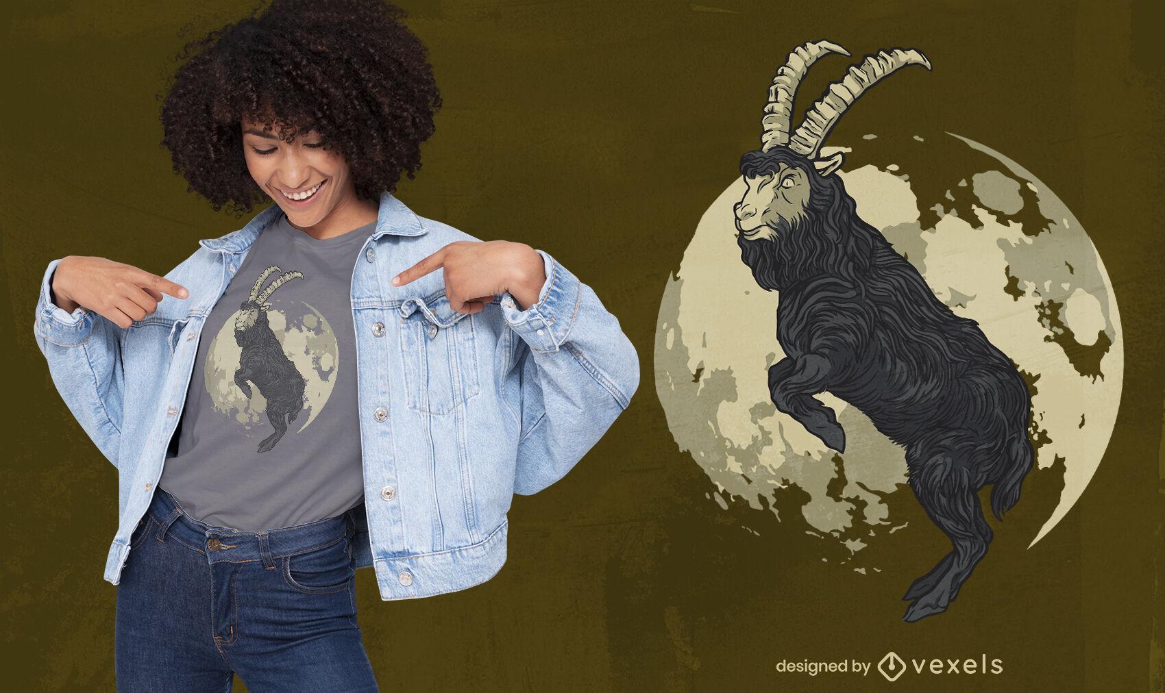 Design de camiseta de cabra Duotone