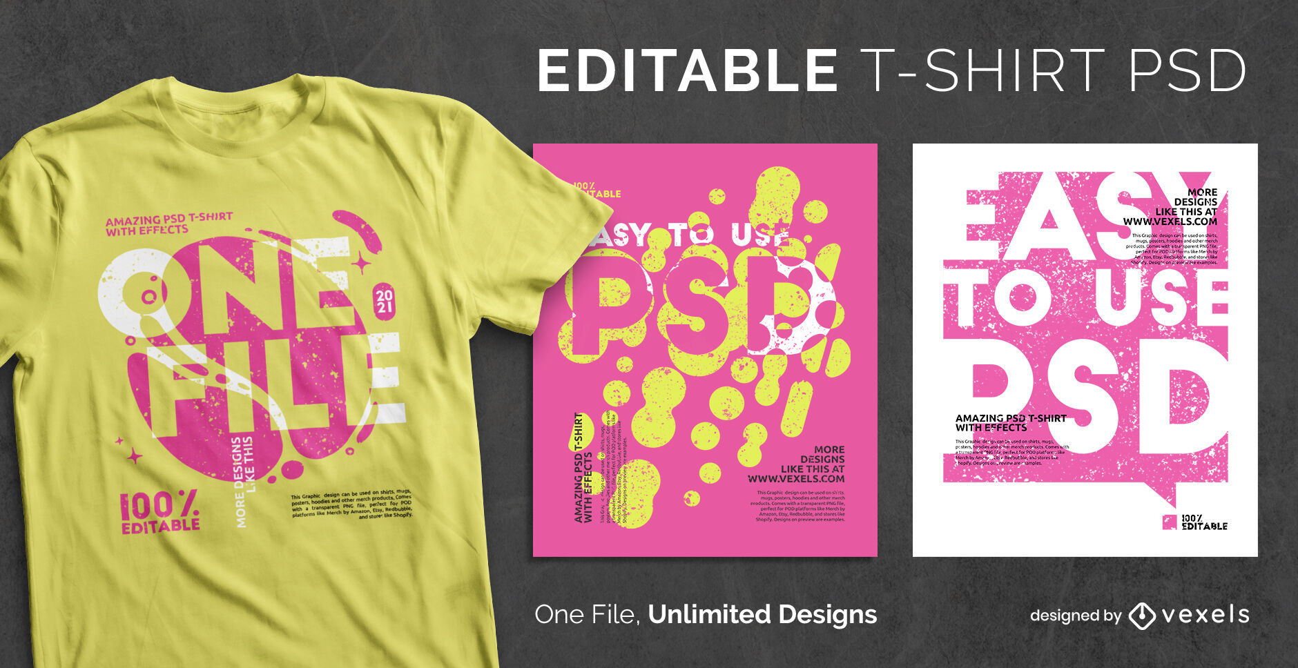 Text in contrast psd scalable t-shirt template