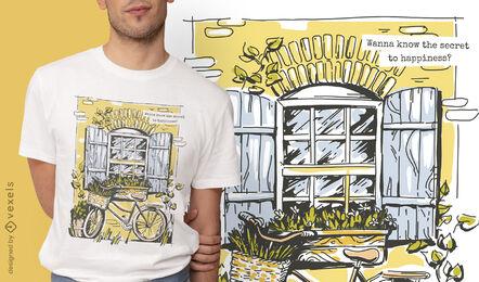 Diseño de camiseta de casa de estilo de vida de Cottagecore