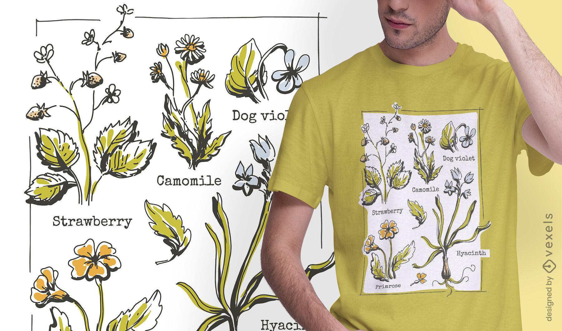 Cottagecore lifestyle plants t-shirt design