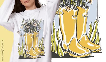 Cottagecore lifestyle boots t-shirt design