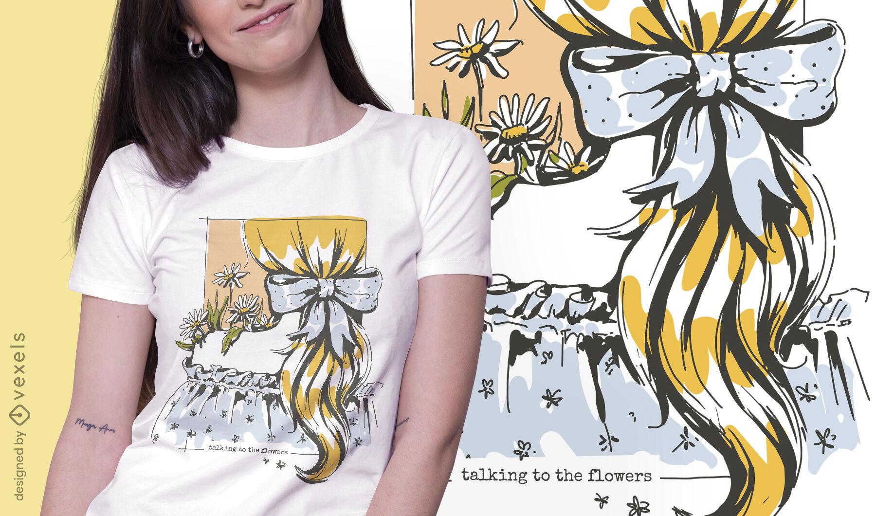 Design de t-shirt feminina estilo de vida Cottagecore
