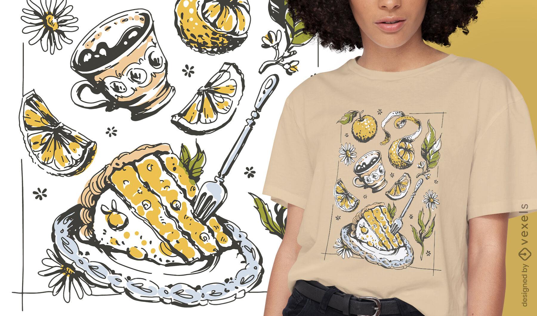Cottagecore lifestyle food t-shirt design