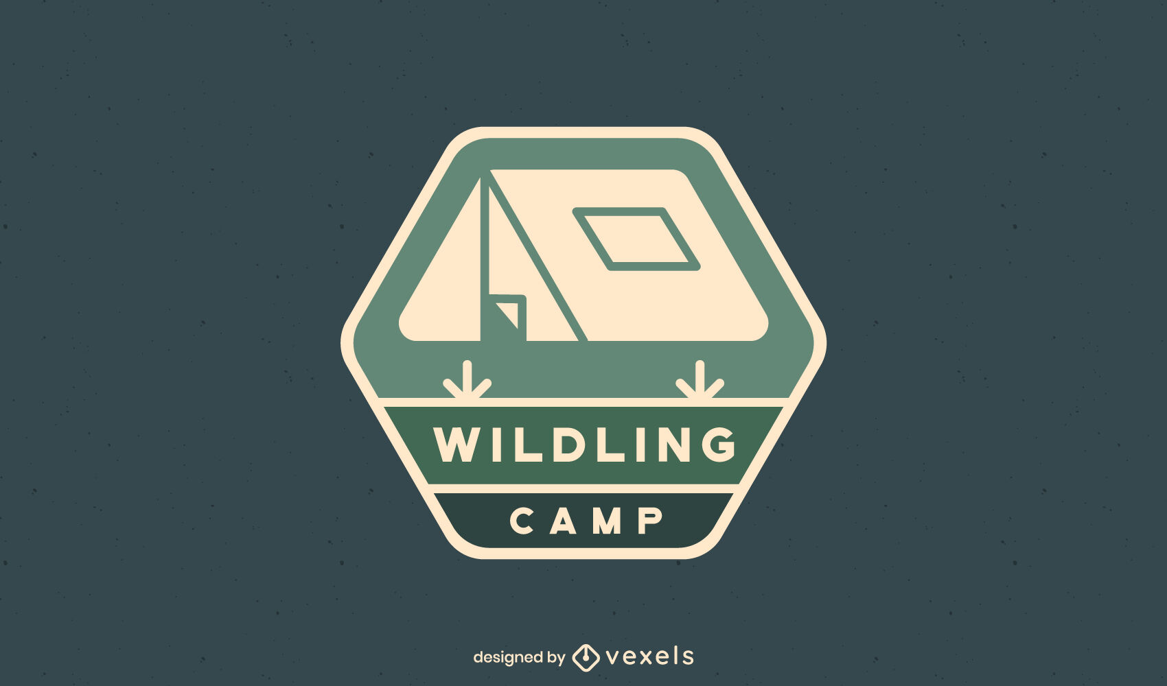 Camping tent logo template
