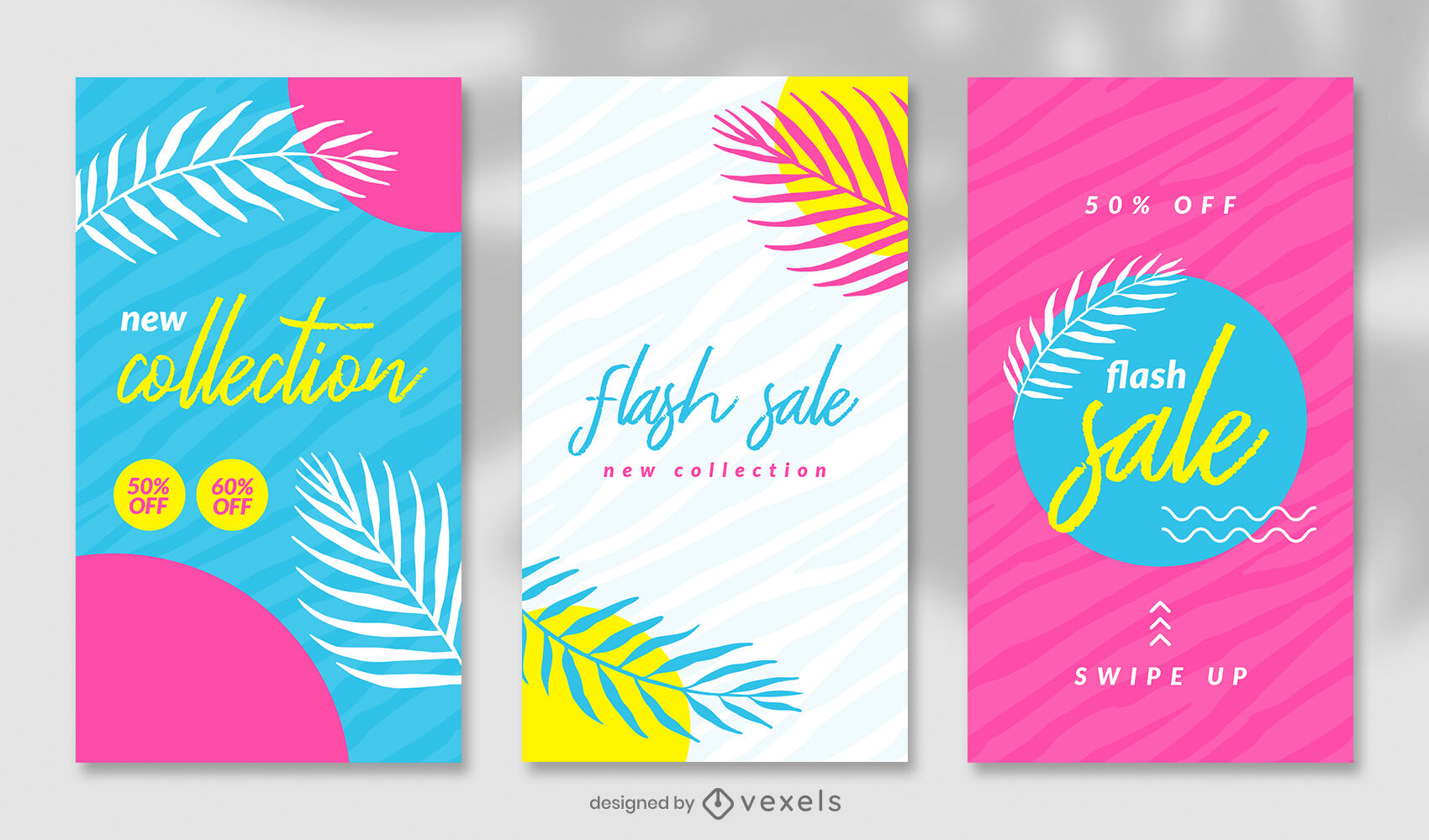 Organic abstract instagram story template