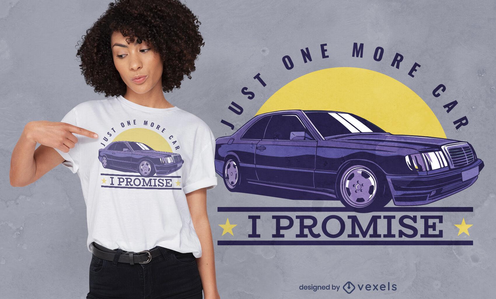 Diseño de camiseta de cotización de compra de coche.