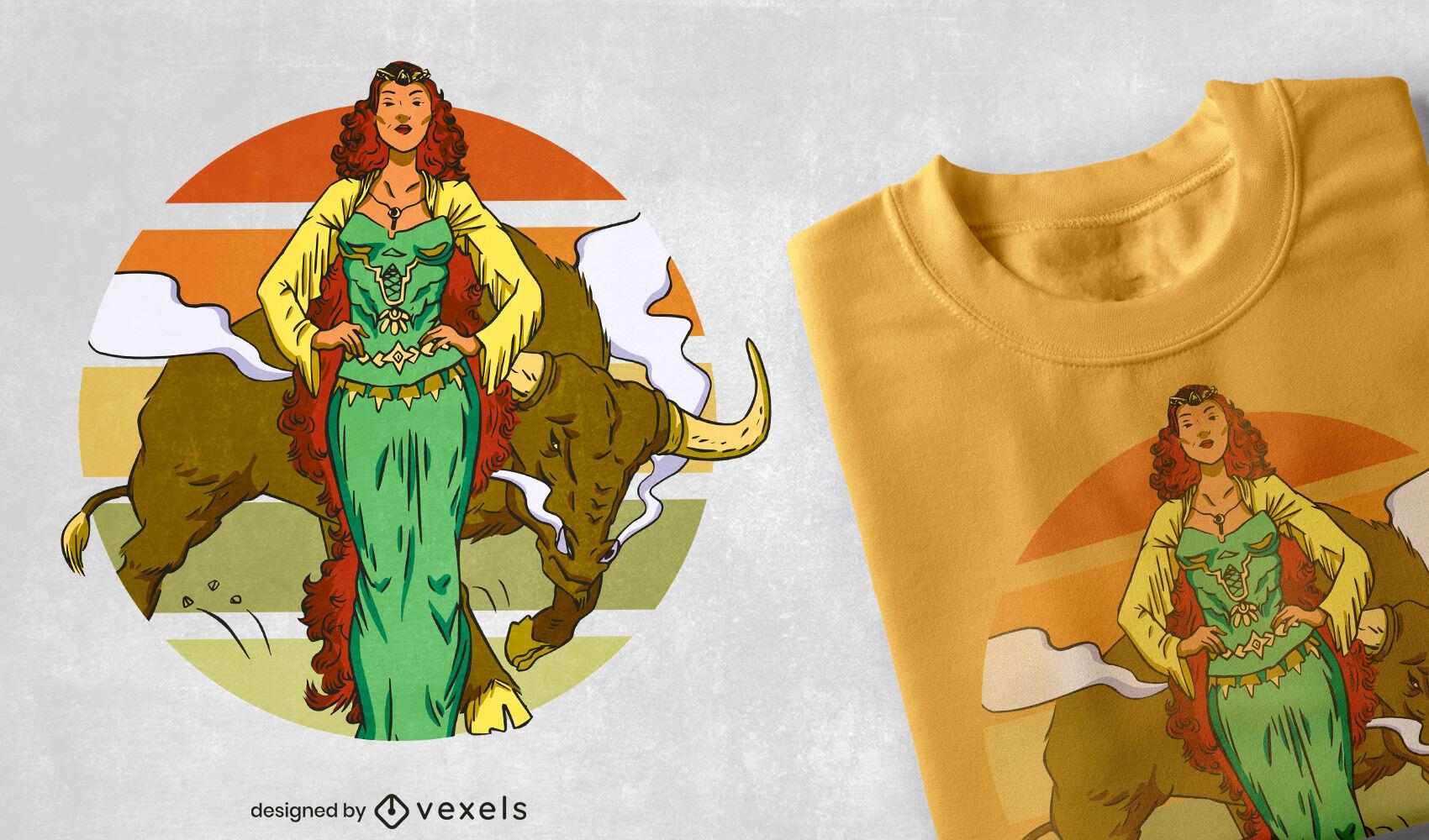Diseño de camiseta Cool Queen Maeve
