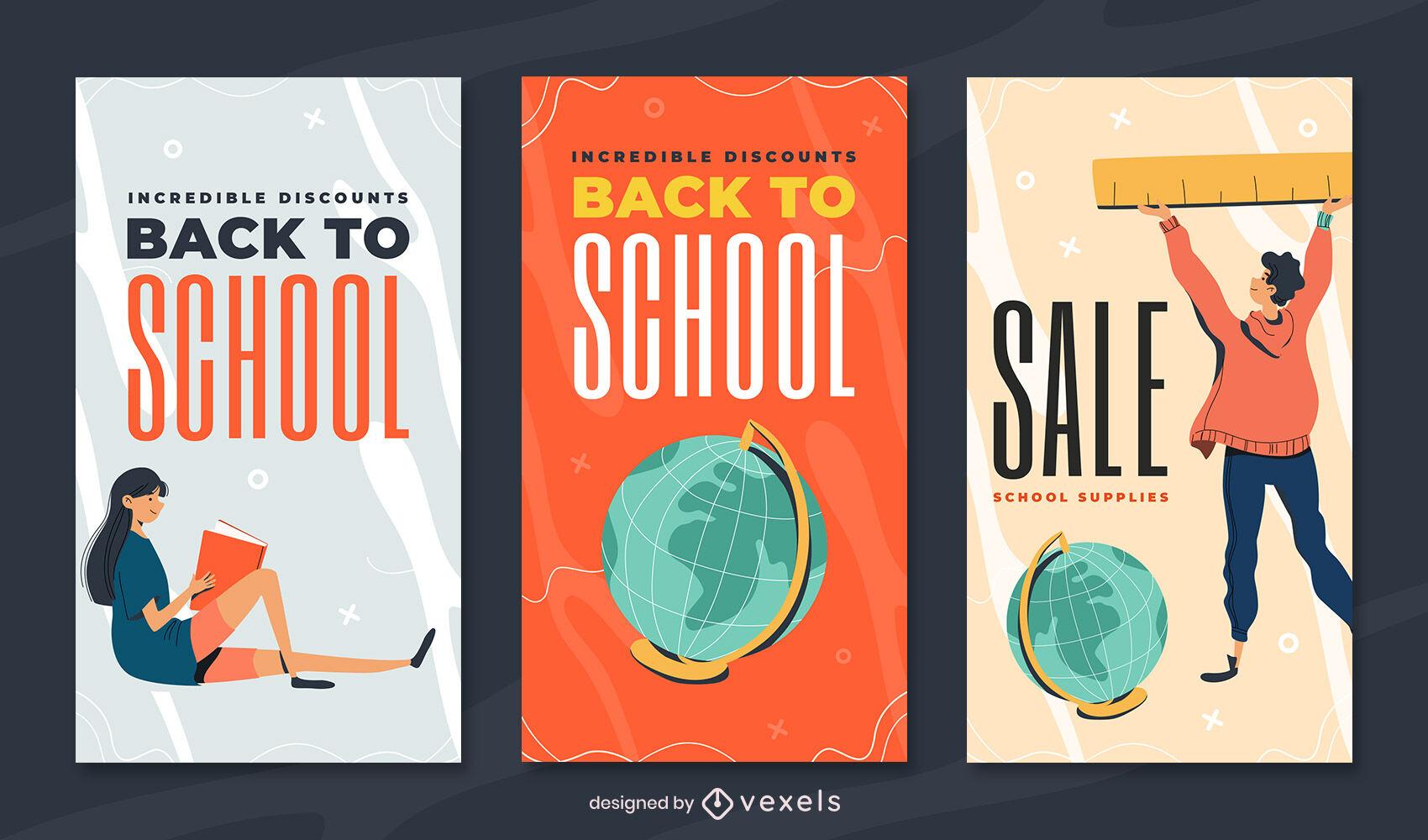 Plantilla de diseño de historia de educación para estudiantes