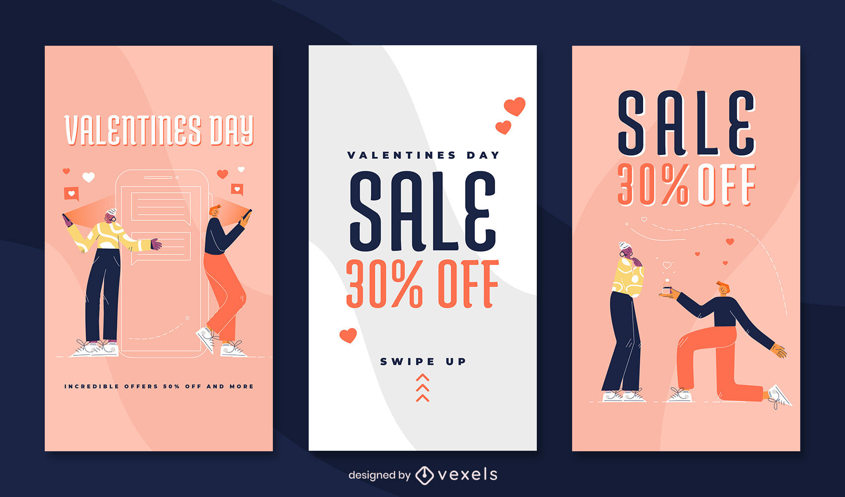 Valentines day love story design template