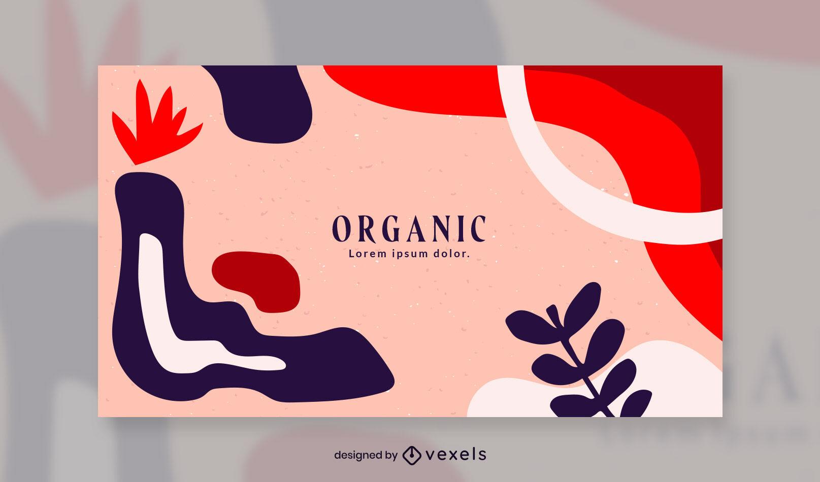 Organic abstract facebook cover template design