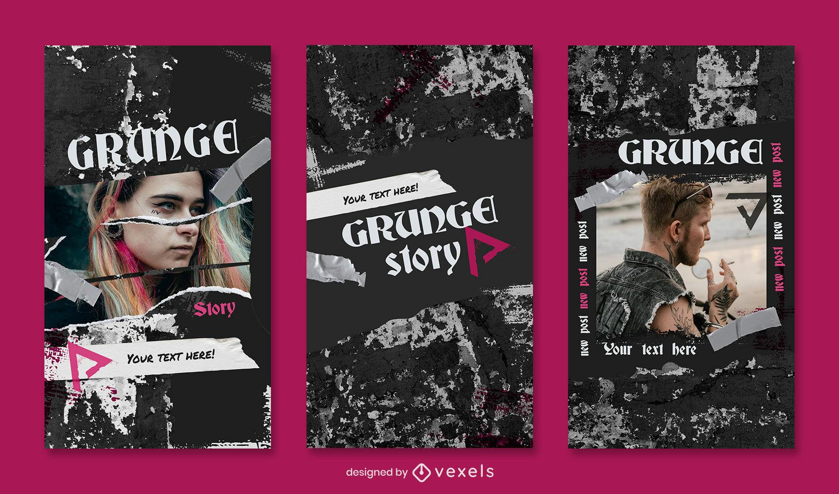 Grunge-Textur-Instagram-Story-Vorlage