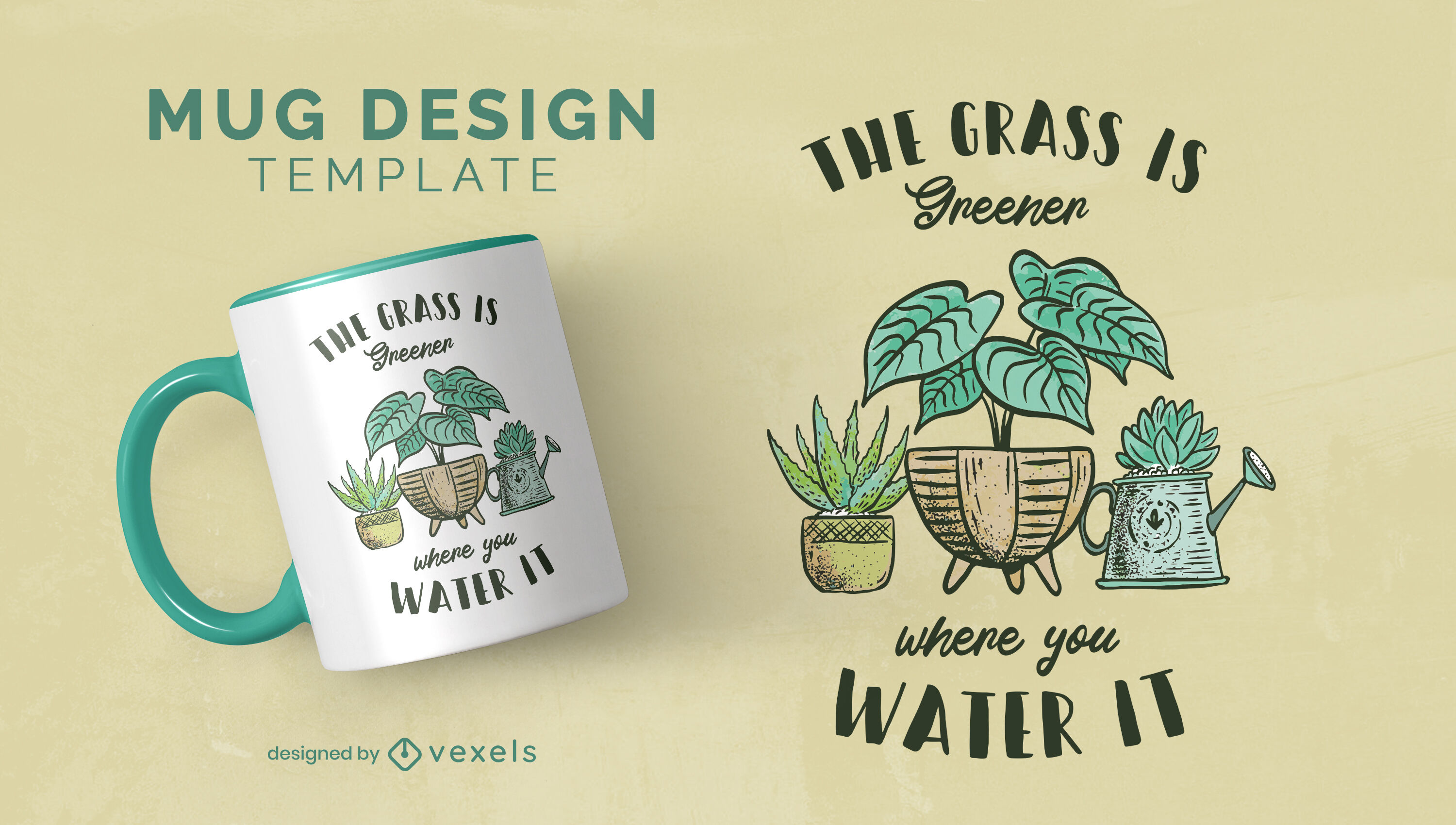 House plants nature quote mug template