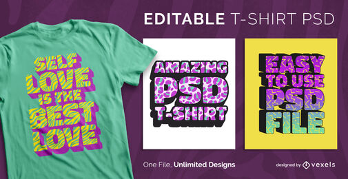 3D padrão texturas texto escalonável camiseta psd
