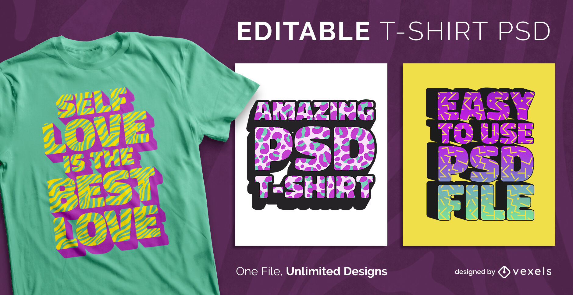 3D pattern textures text scalable t-shirt psd