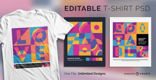 Formas abstratas pop art escalável t-shirt psd