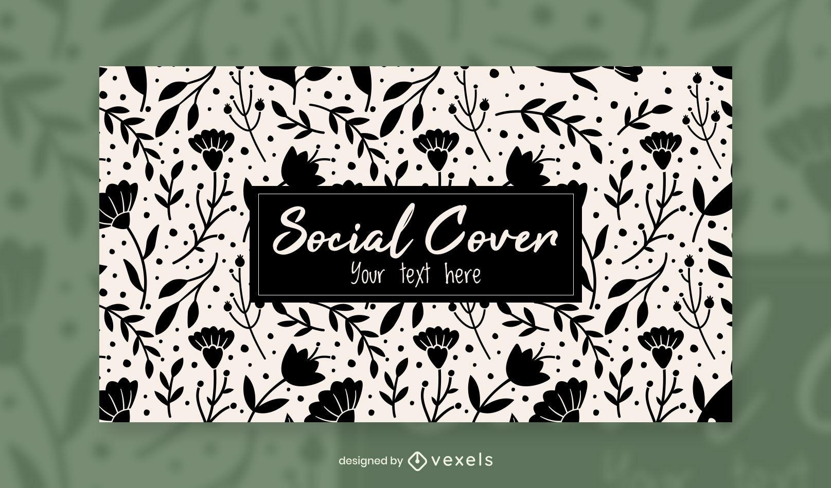 Modelo de design de capa floral para facebook