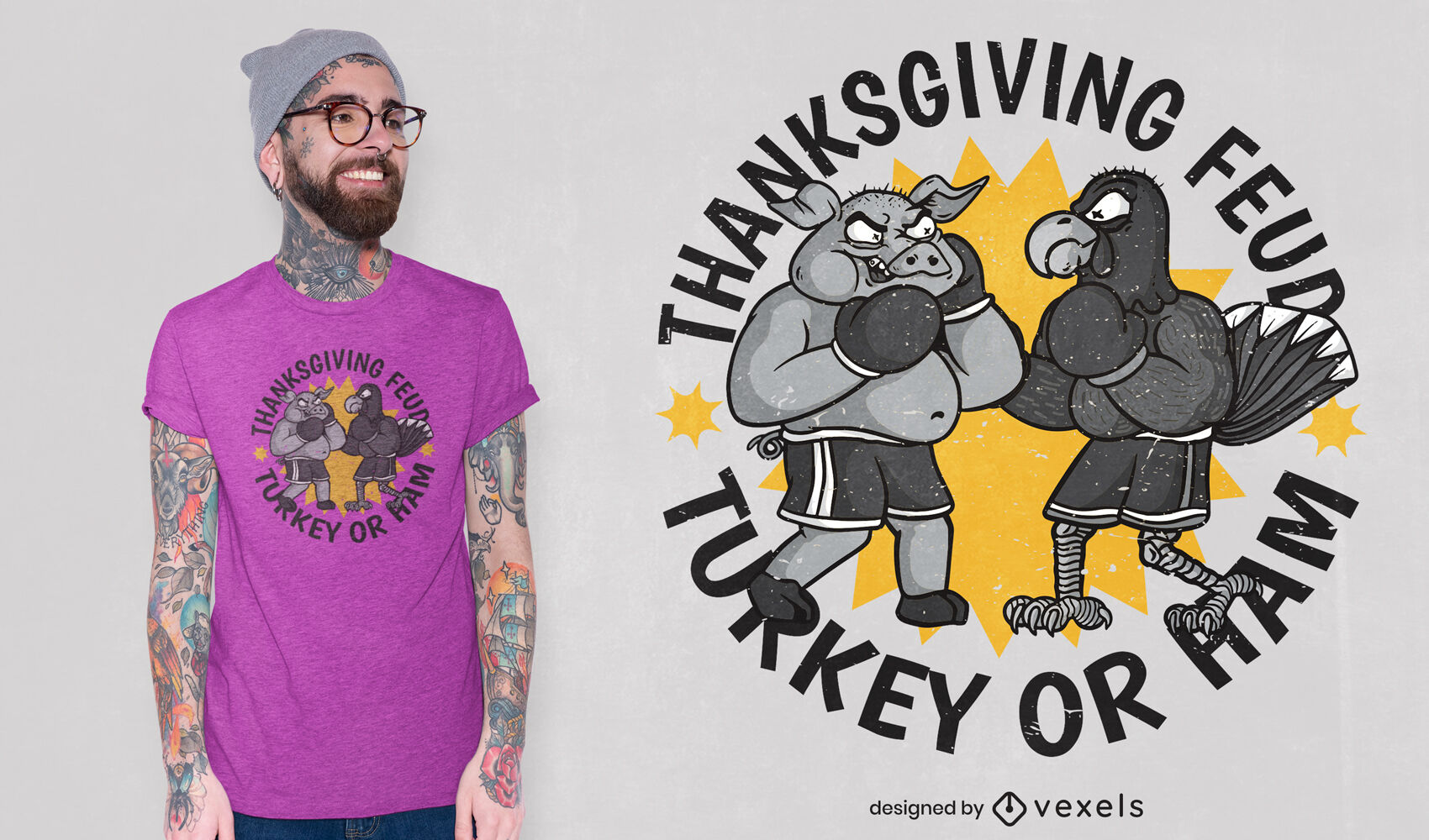 Design engraçado da camiseta do Dia de Ação de Graças